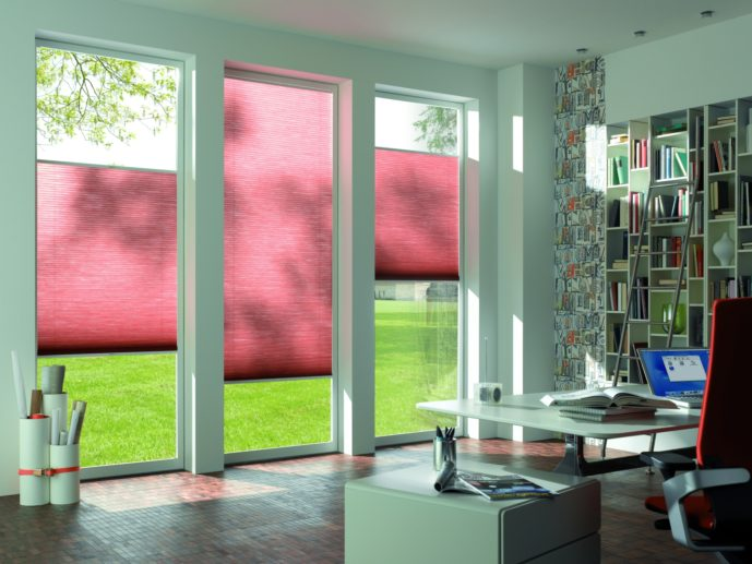 Pleated and cellular blinds