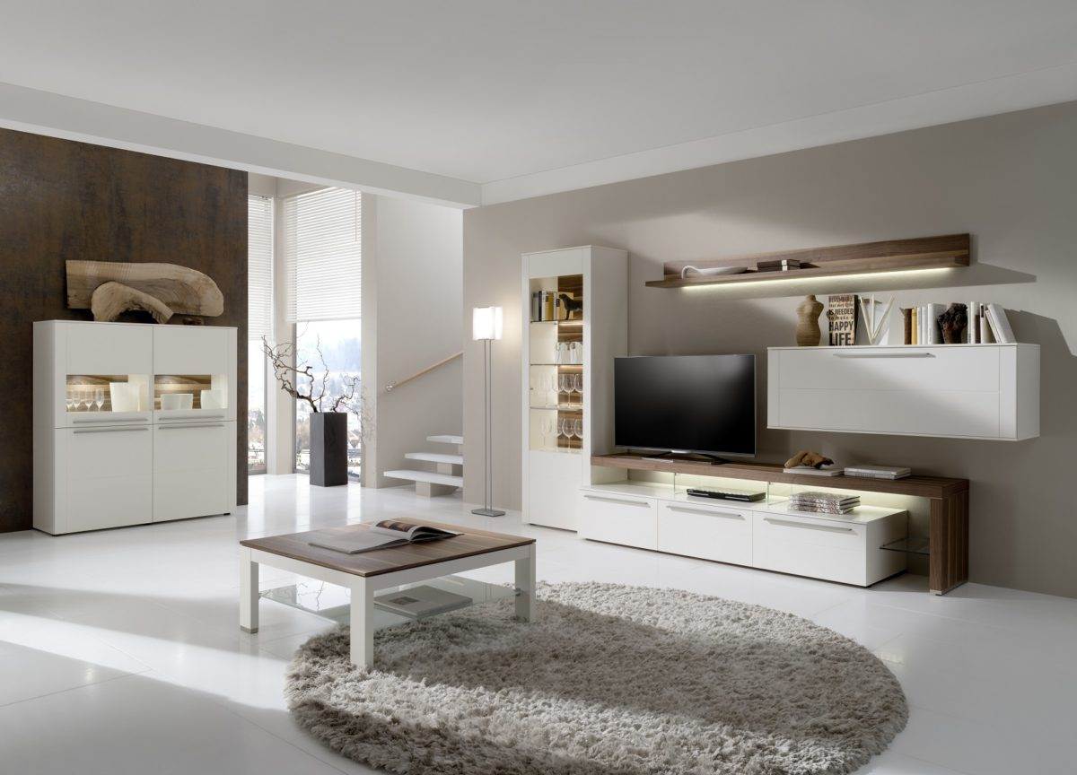 Be23 Be61 Cth90B In White Lacquer And Natural Walnut