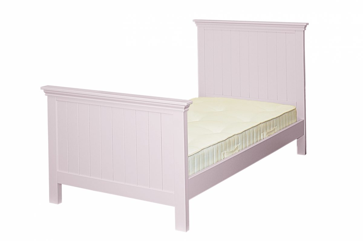 Elfin Grooved Single Bed High Foot End Candy Floss