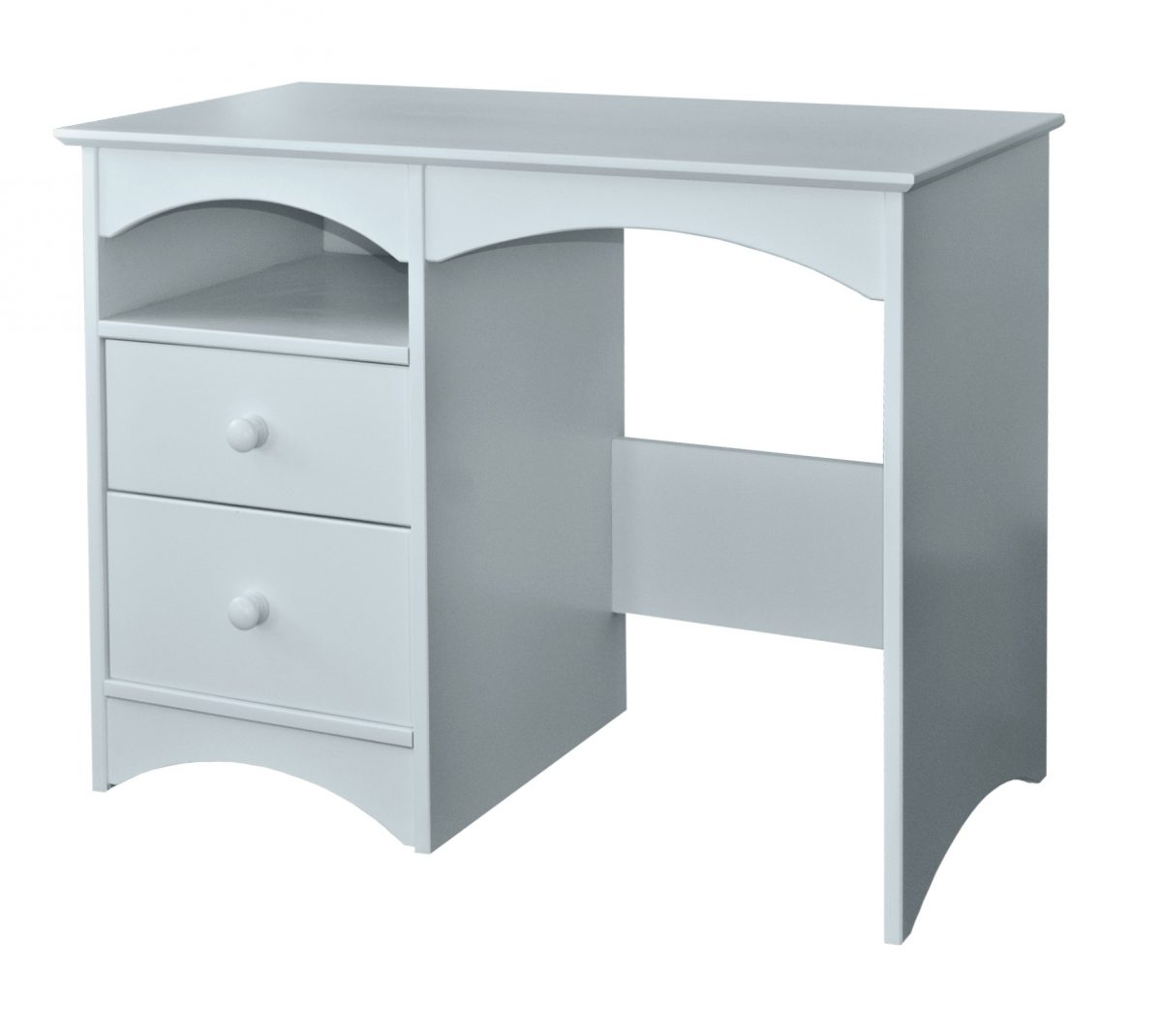 Elfin Single Ped Desk 2 Drawer Open Shelf Little Boy Blue
