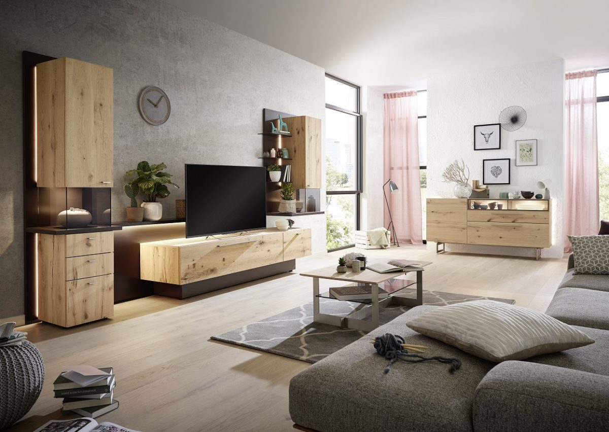 Ld9S Sb4 13 In Natural Oak Timber And Mocca Lacquer And Coffee Table Ct503 110 In Natural Oak