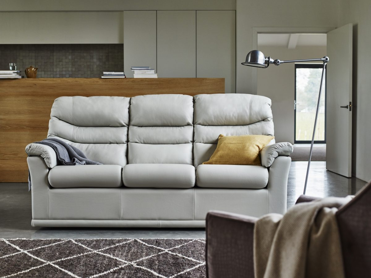Malvern 3 Cushion 3 Seater Sofa Capri Pearl No Table