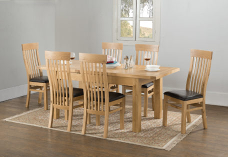 21 58 23 Dining Table 150X90 Butterfly Extension 6 Chairs